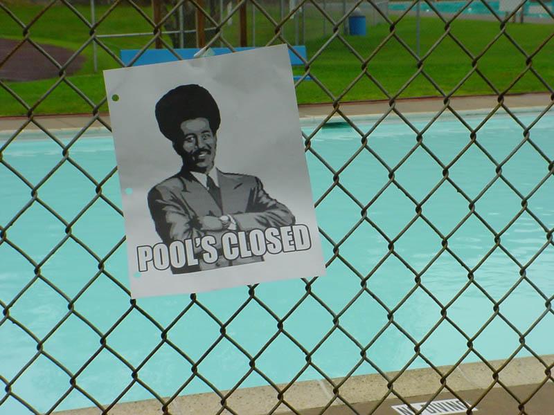 La piscina è chiusa