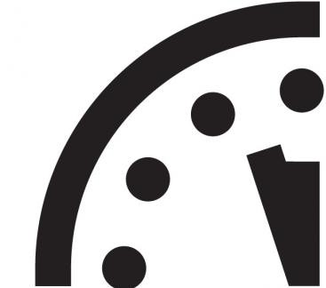 Doomsday Clock 3 minuti a mezzanotte