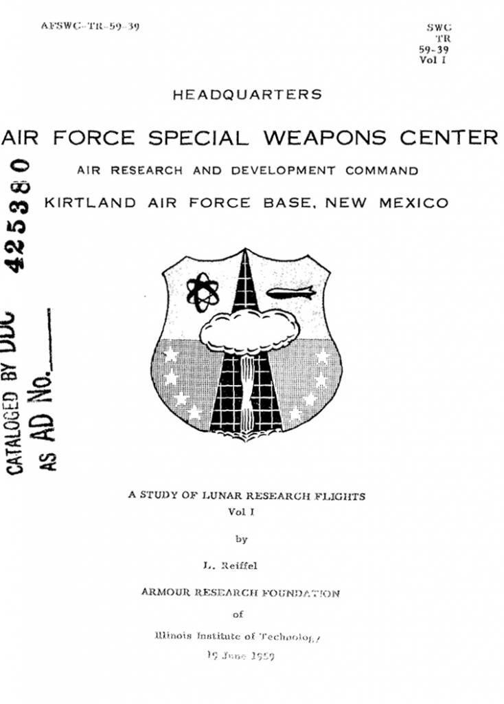 A Study of Lunar Research Flights - Vol I
