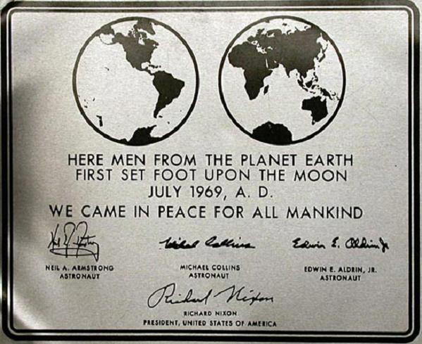 Placca Apollo 11