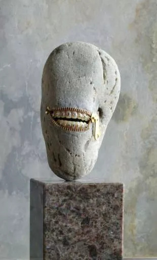 Range Of Arts Sculpture Hirotoshi Ito Hey Exhibition Laughing Stone 5