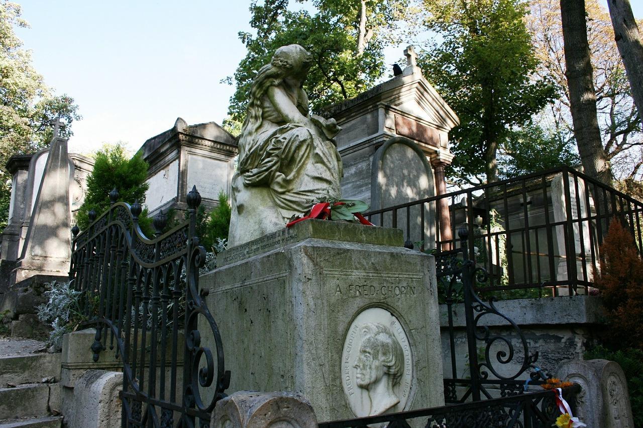 Chopin Tomba Pere Lachaise Cimitero Parigi
