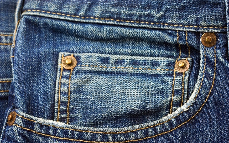 Jeans Blue Pocket Fashion Clothing Casual Cotton
