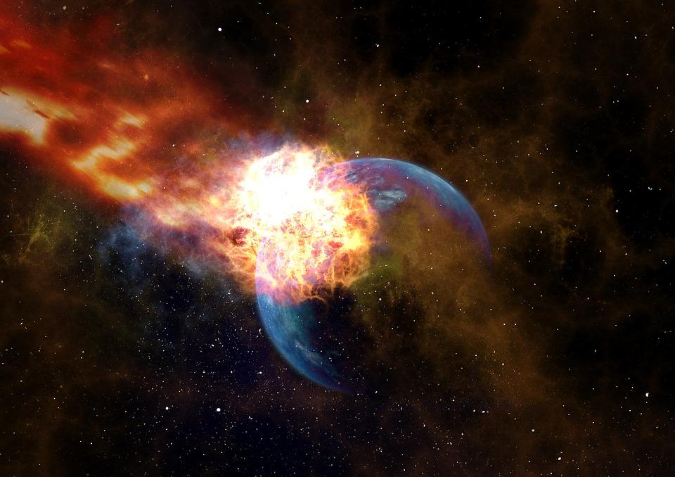 Weddenburn Edscottite Meteor Impatto Globo Planet Traccia Astronomia